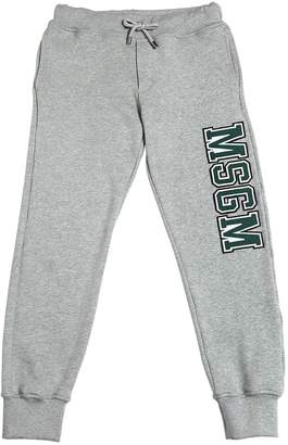 MSGM Logo Patch Cotton Sweatpants