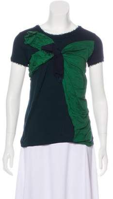 Lanvin Bow-Accented Colorblock Top