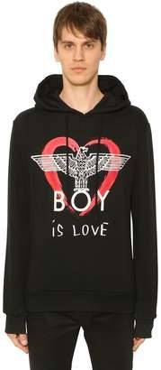 Boy London Boy Is Love Printed Hooded Sweatshirt