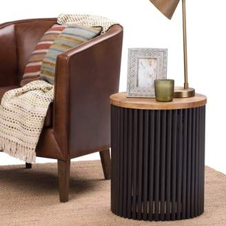 Simpli Home Demy Metal/Wood Accent Table