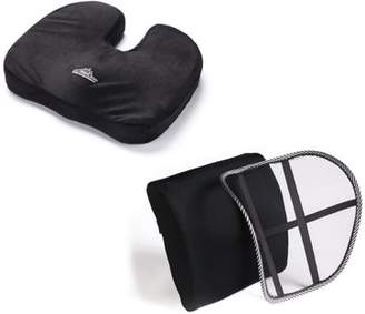 Black Mountain Products Orthopedic Memory Foam Seat Cushion and Lumbar Support Kit