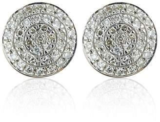 Monica Vinader Rose Gold Fiji Button Diamond Stud Earrings