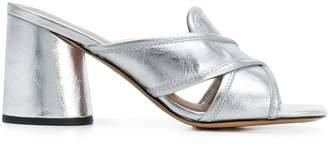 Marc Jacobs cross over strap block heel sandals