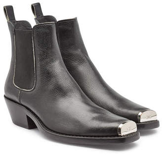 Calvin Klein Western Chris Leather Ankle Boots