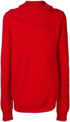 Jil Sander asymmetric knitted sweater