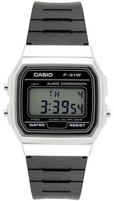 Casio Men's Digital Watch, Silver/Black