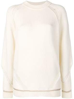 See by Chloe knit distressed jumper