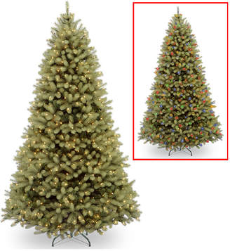 National Tree 9' Feel Real Down Swept Douglas Fir Hinged Tree with 900 Dual Color R Led Lights and PowerConnect
