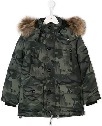 Diadora Junior camouflage padded coat