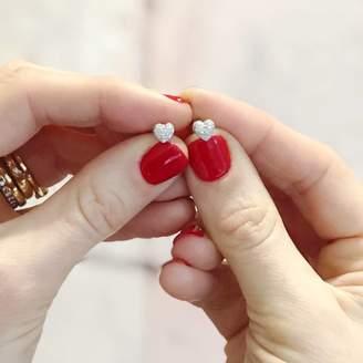 At Notonthehighstreet Claudette Worters Diamond Earrings Tiny Heart Studs