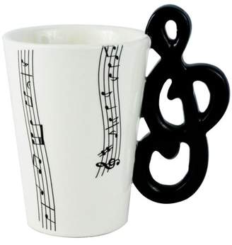 Fairly Odd Novelties Black Music Clef Note Coffee Mug