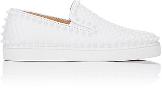 Christian Louboutin Women's Roller-Boat Slip-On Sneakers $995 thestylecure.com