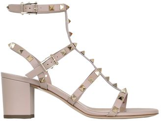 60mm Rockstud Leather Sandals $1,045 thestylecure.com