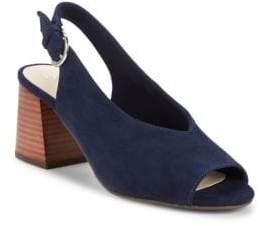 Seychelles Scriptive Suede Block Heel Sandals