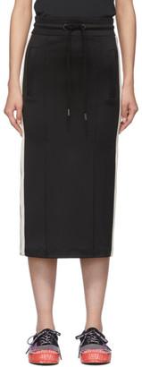 Palm Angels Black Pencil Track Skirt