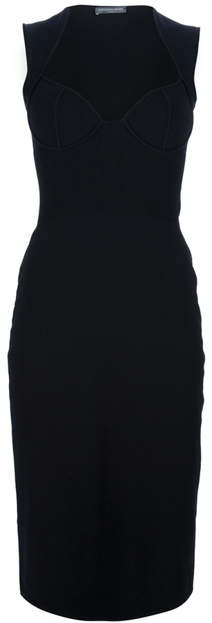 Alexander McQueen slim fit bustier dress