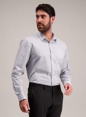 Tu Grey Stripe & Floral Print Slim Fit Shirts 2 Pack