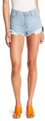 Pistola High Waist Snake Skin Pattern Shorts