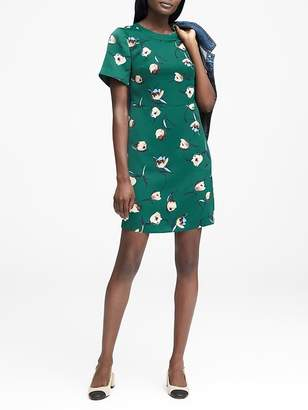 Banana Republic Floral Fit-and-Flare Dress