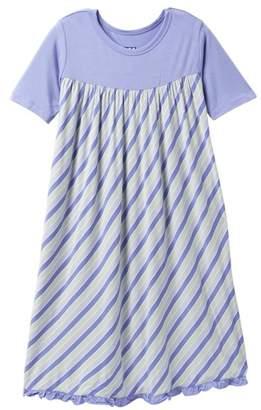 Kickee Pants Girl Tropical Stripe Print Classic Short Sleeve Swing Dress (Baby, Toddler, & Little Girls)