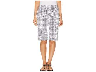 Tribal Stretch Printed Bengaline 13 Pull-On Bermuda Women's Shorts