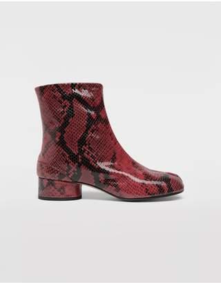 Maison Margiela Tabi Python-Effect Calfskin Boots
