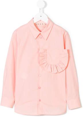 Marni ruffle detail shirt