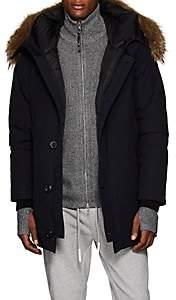 Moncler Men's Polaris Fur-Trimmed Down Parka - Navy