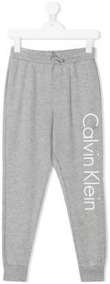 Calvin Klein Kids logo print track pants