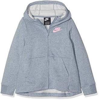 Nike Girl's G NSW Hoodie Fz Pe Jumper,(Manufacturer Size: Small)