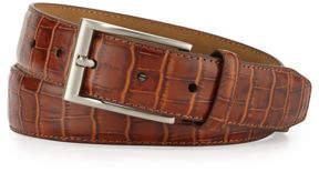 Neiman Marcus Croc-Embossed Leather Belt
