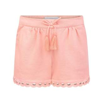 Chloé ChloeBaby Girls Pink Shorts With Broderie Anglaise Trims