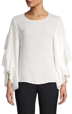 Saks Fifth Avenue Ruffle Sleeve Blouse