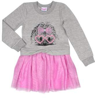 Nannette Long Sleeve Hedgehog Sweatshirt & Tutu Dress (Toddler Girls)