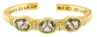 Judith Ripka 18K Crystal & Diamond Cuff