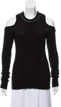 Kartell No. 21 x Mohair & Wool-Blend Cold Shoulder Sweater w/ Tags