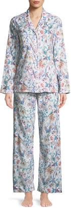 Derek Rose Ledbury Floral-Print Cotton Pajama Set