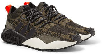 adidas Atric F/2 TR Suede-Trimmed Primeknit Sneakers - Men - Brown