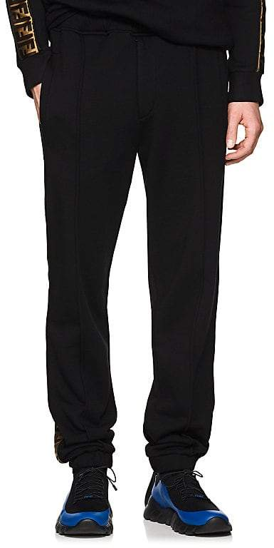 Men's Zucca-Striped Wool-Blend Sweatpants