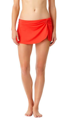 Anne Cole Knot-Front Sarong Swim Skirt