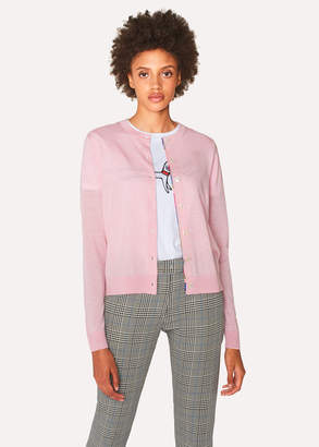 Paul Smith Women's Light Pink Marl Wool-Blend Cardigan