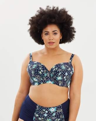 Evans Bali Print Bikini Top