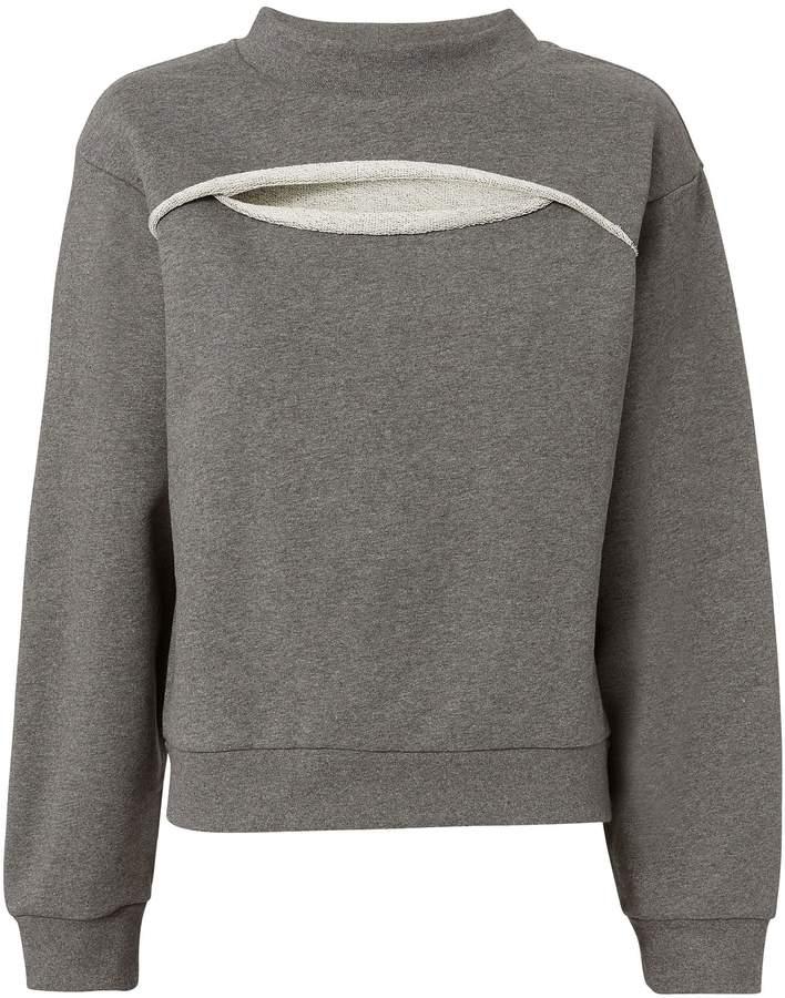 Slit Front Sweatshirt
