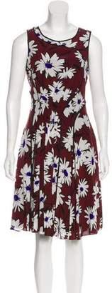 Nina Ricci Silk Printed Dress w/ Tags
