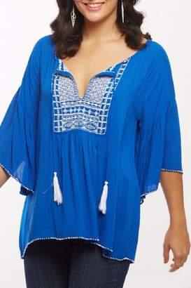 Lulu Baik Baik Blue Top