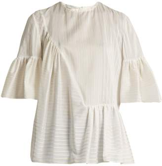 Stella McCartney Santi striped cotton and silk-blend top
