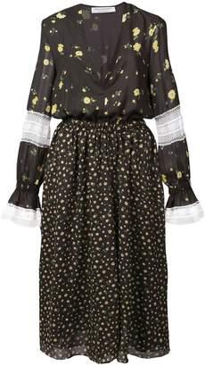 Philosophy di Lorenzo Serafini Deep V Floral Dress