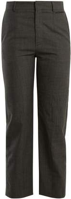 Vetements Straight-leg Prince of Wales-checked wool trousers