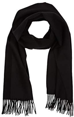 Barneys New York MEN'S FRINGED ANGORA-BLEND SCARF - BLACK