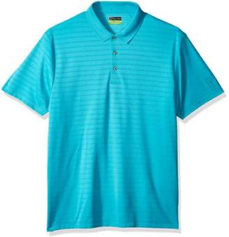 PGA TOUR Men's Short Sleeve Double Lined Ottoman Solid Polo